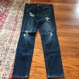 American eagle distressed jeggings size 12